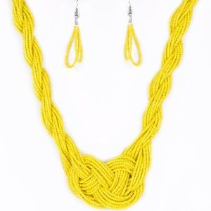 💍 5 for $25 sale! 💍 Yellow Seed Bead Necklace